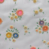 Custom Vintage Item - Sheer Rainbow Flocked Floral