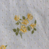 Custom Vintage Item - Yellow Flocked Roses
