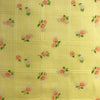 Custom Vintage Item - Yellow Dimity Flocked Flowers