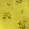 Custom Vintage Item - Canary Yellow Flocked Roses