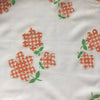 Custom Vintage Item - Gingham Flocked Daisies