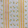 Custom Vintage Item - Flocked Floral & Stripes
