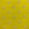 Custom Vintage Item - Lemon Yellow Flocked Daisies