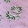Custom Vintage Item - Dove Flocked Floral