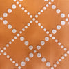 Custom Vintage Item - Orange Sherbet Flocked Diamond Dots