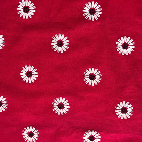 Custom Vintage Item - Flocked Daisies