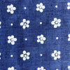 Custom Vintage Item - Baby Blue & Flocked White Swiss Dots