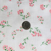 Custom Vintage Item - Pink Flocked Wildflowers