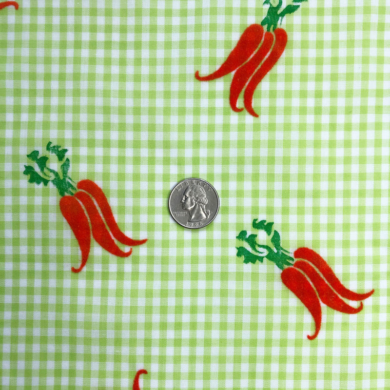 Custom Vintage Item - Flocked Gingham Carrots