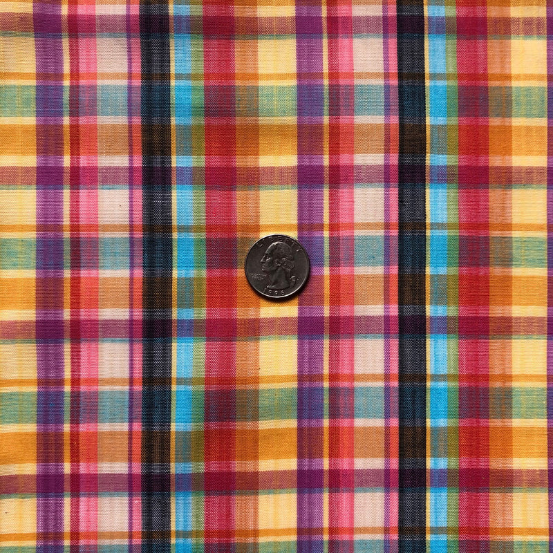 Custom Vintage Item - Rainbow Plaid