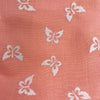 Custom Vintage Item - Peach Flocked Butterflies