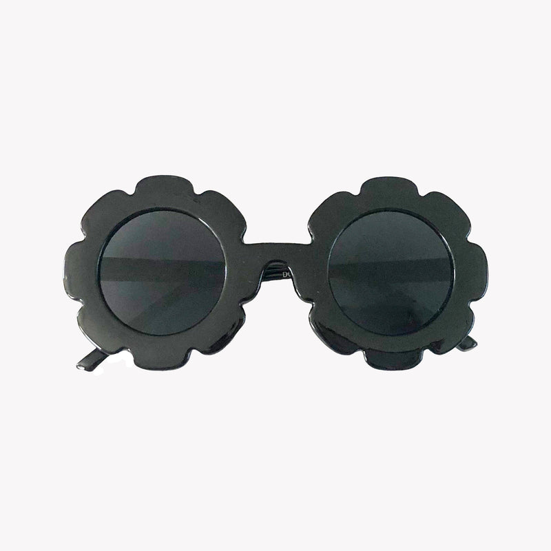 Black Flower Sunglasses