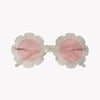 Cream Flower Sunglasses
