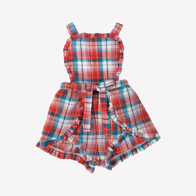 Summer Plaid Jane Romper
