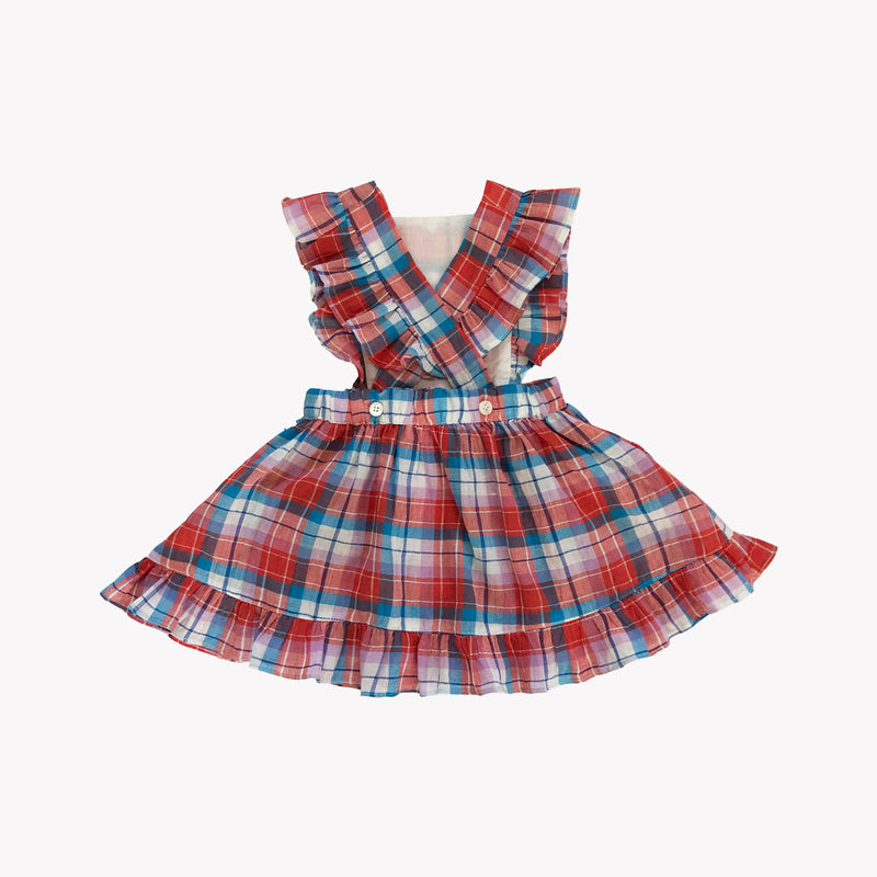 Summer Plaid Colette Pinafore Dress