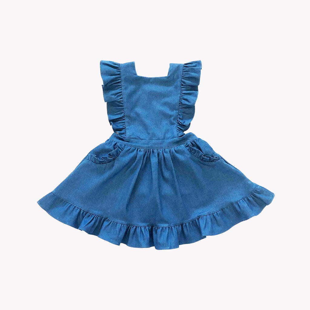 Colette Denim Pinafore Dress