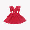 Colette Red Swiss Dot Pinafore Dress