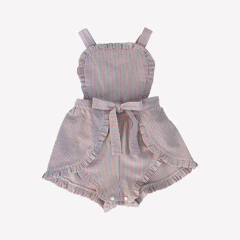 Jane Pink Cotton Romper