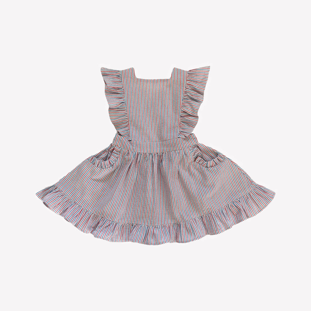 Summer Stripe Colette Pinafore Dress