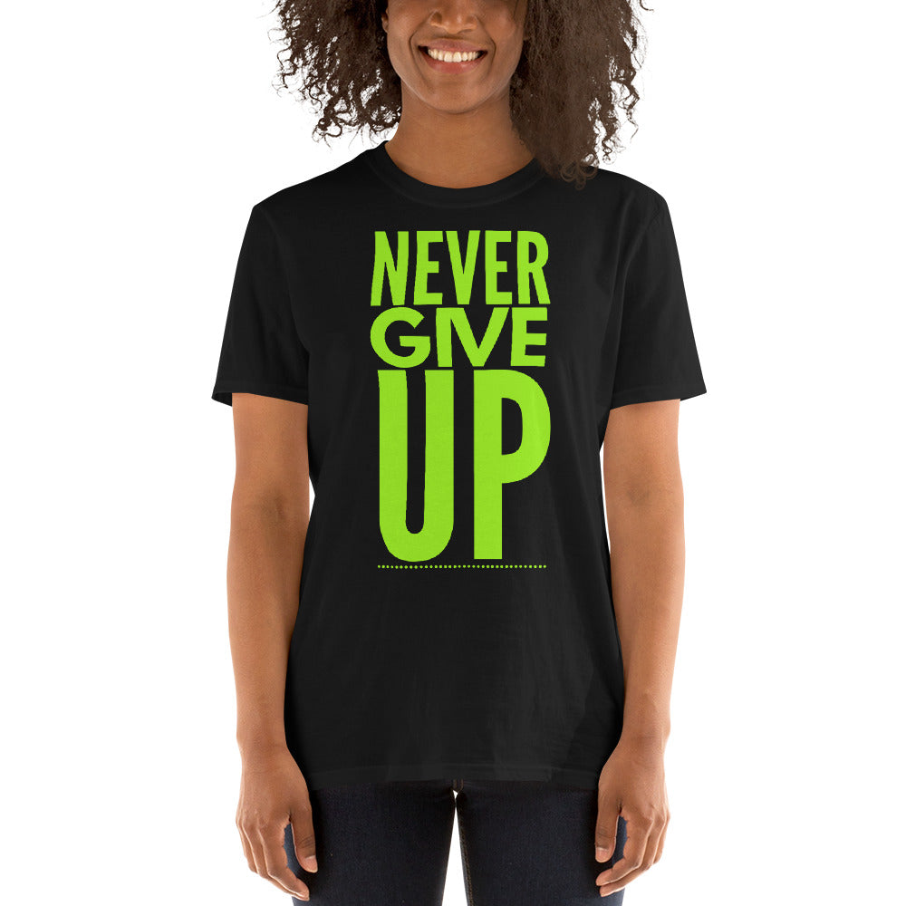 """Never Give Up"" Unisex Softstyle T-Shirt"