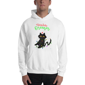 """Kitty Christmas Dreamer"" Hooded Sweatshirt"