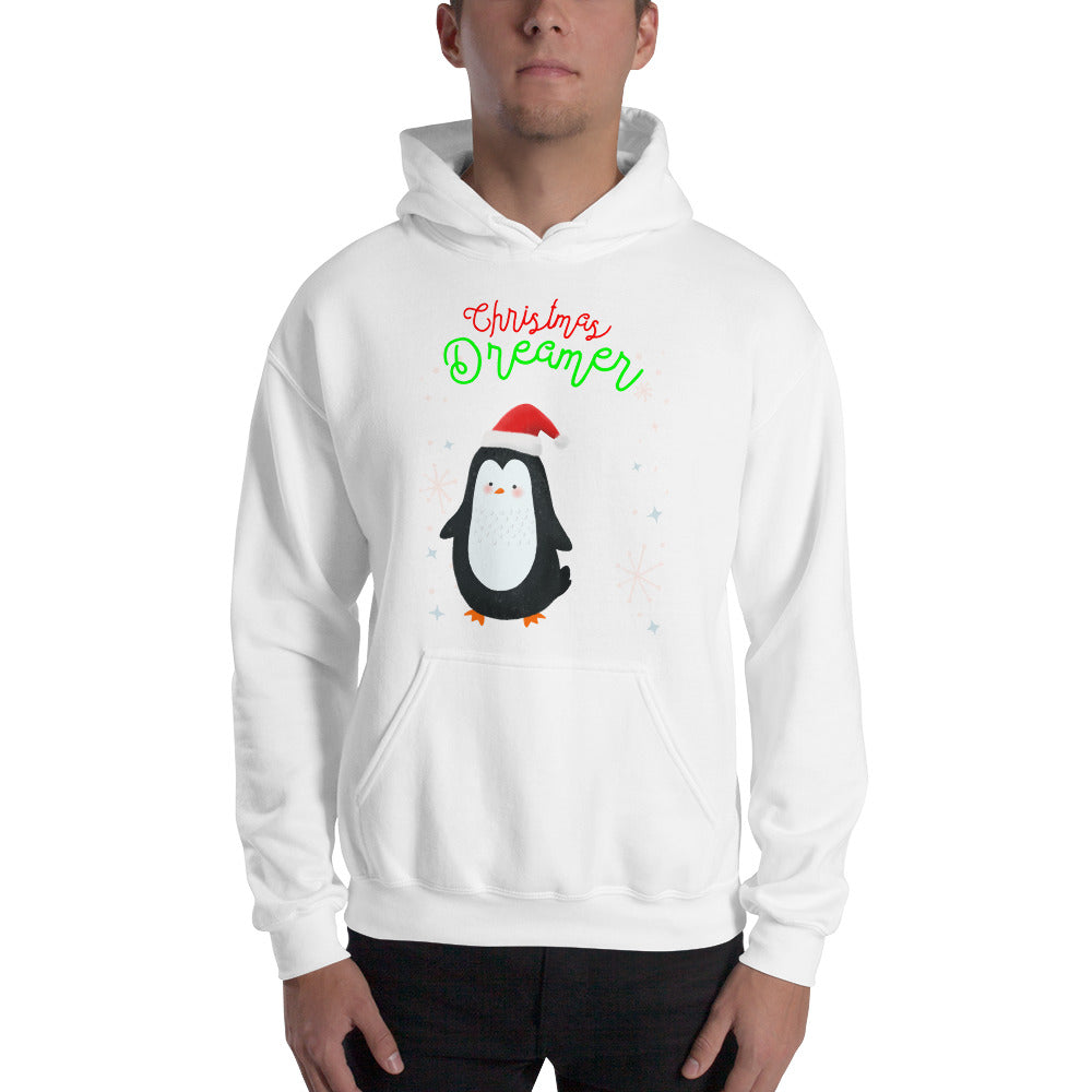 """Christmas Dreamer (Cute Penguin) Hooded Sweatshirt"