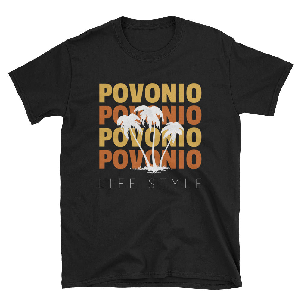 """Povonio Life-Beach"" Short-Sleeve Unisex T-Shirt"