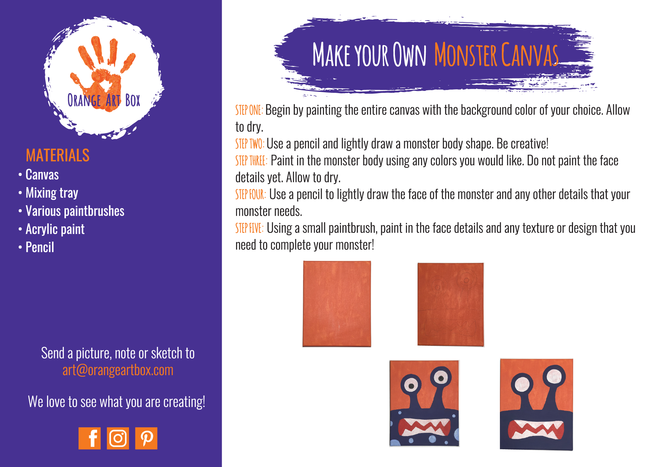 Monster Canvas - DIY Step by Step