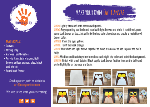 Make Your Own Owl Canvas