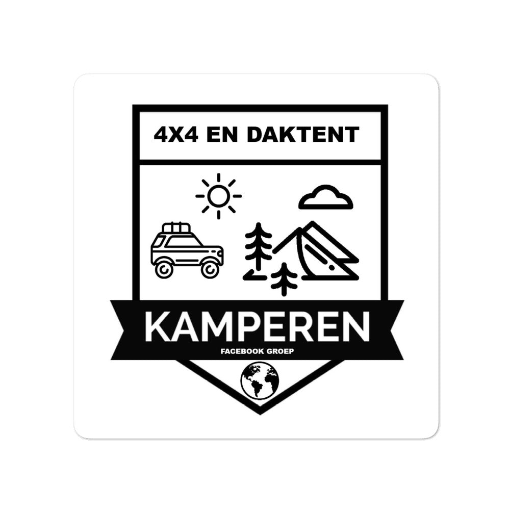 4x4 EN DAKTENT KAMPEREN COMMUNITY STICKER(S)
