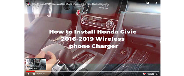 Wireless Charging Kits Installation tutorial: TZ-SS003000100 Honda Civic (FC FK) 2016-2019