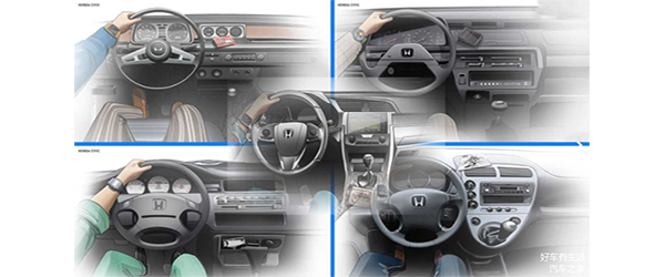 From 1th Gen. to 10th Gen. Honda Civic interior evolution history, which has you seen?