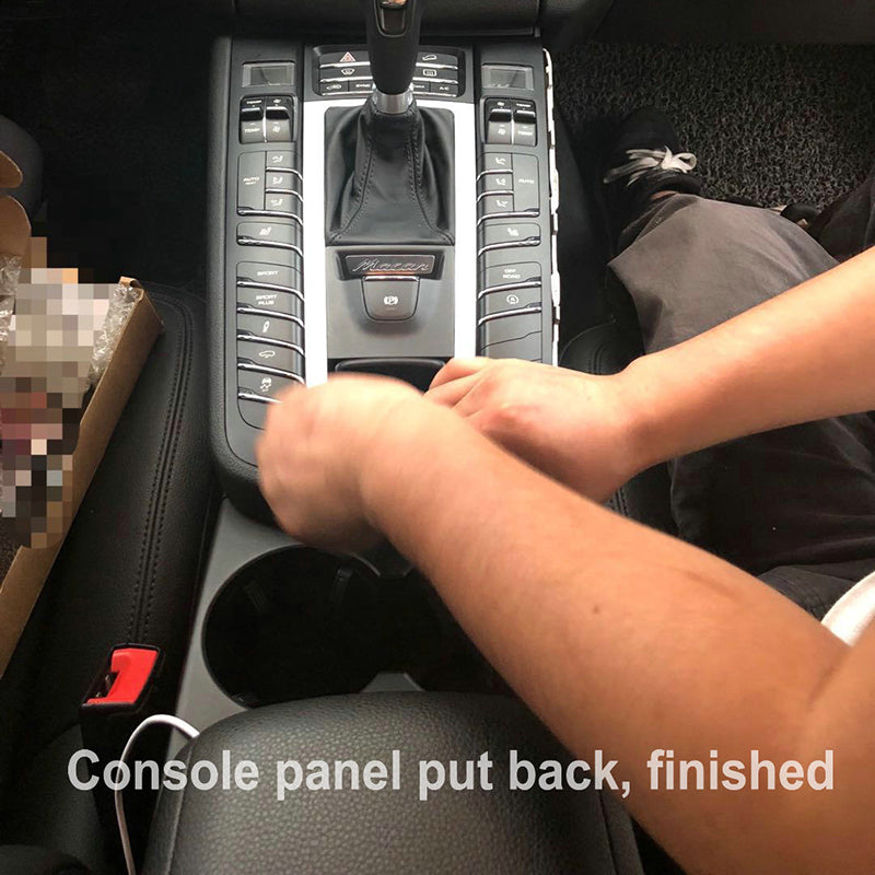 4- Console panel put back, finished