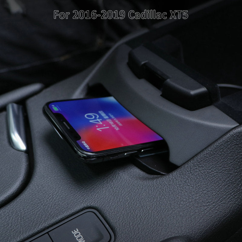 On-board Qi Wireless Phone Charger For Cadillac XT5 2019