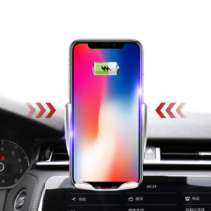 Automatic Clamping Wireless Charger Car Mount Automatic Induction Charger for iPhone, Samsung