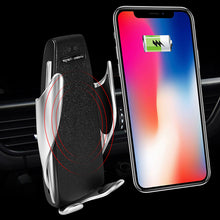 Load image into Gallery viewer, Automatic Clamping Wireless Charger Car Mount Automatic Induction Charger