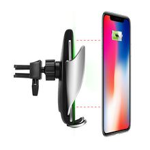 Load image into Gallery viewer, Automatic Clamping Wireless Charger Car Mount Automatic Induction Charger for iPhone, Samsung