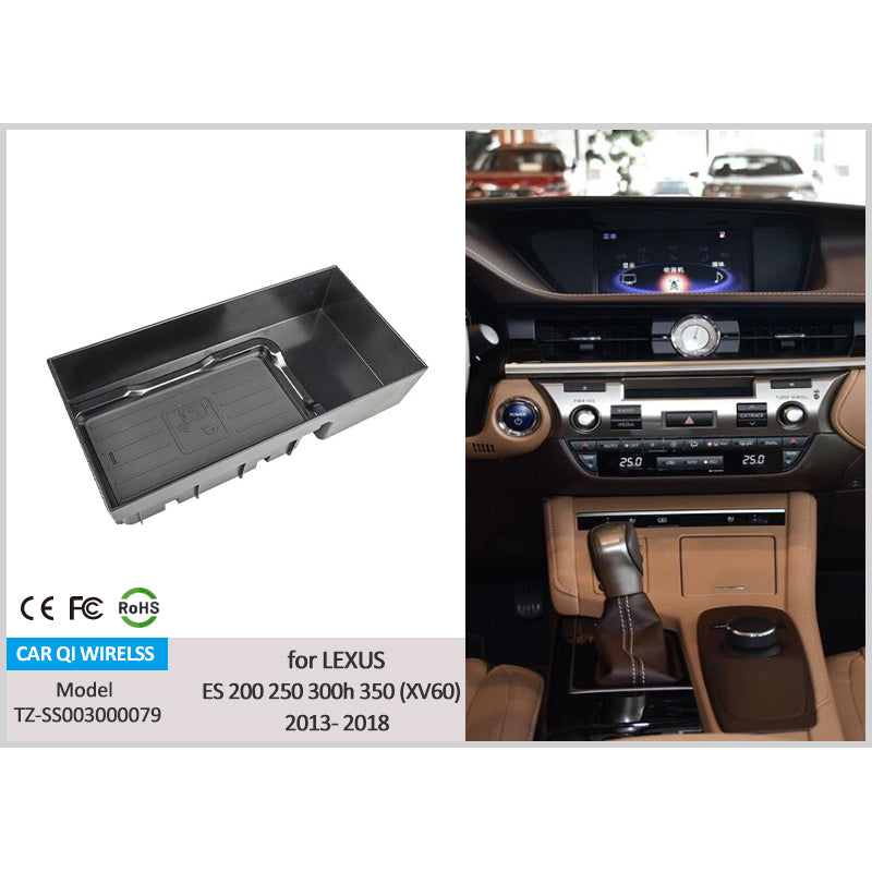 Wireless Phone Charger for 2013–2018 Lexus ES 200/ 250/ 300h/ 350 (XV60)
