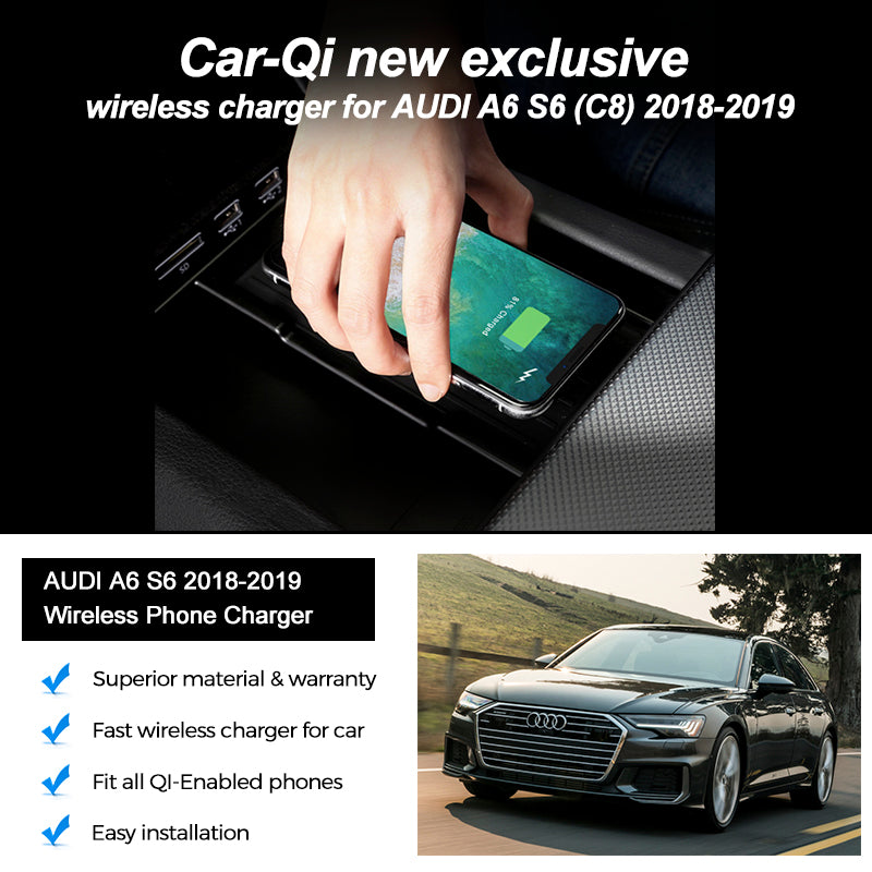 Wireless Charger For Audi A6 S6  C8  2018