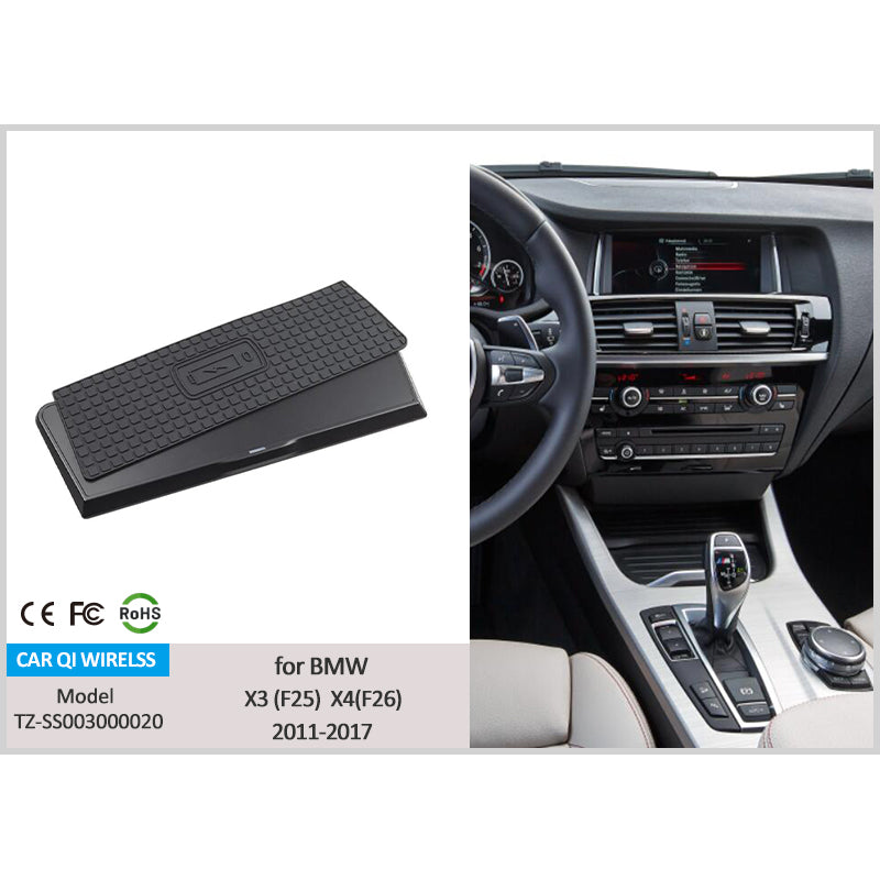 Wireless Charger for BMW X3 (F25) X4 (F26) 2013-2017