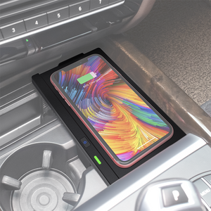 F15 Accessory Compatible All QI Enabled Phone Center Console Wireless Charging Pad Mat for BMW X5 with Fast Charging Charger X6 F16 CarQiWireless Wireless Phone Charger for BMW X5 X6 2014-2018