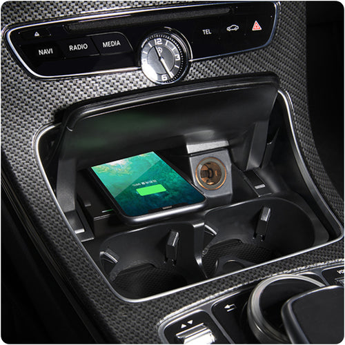 Wireless Phone Charger for Mercedes Benz C-Class GLC C 300 AMG C 63 AMG C 43 2015 2016 2017 2018 2019 2020