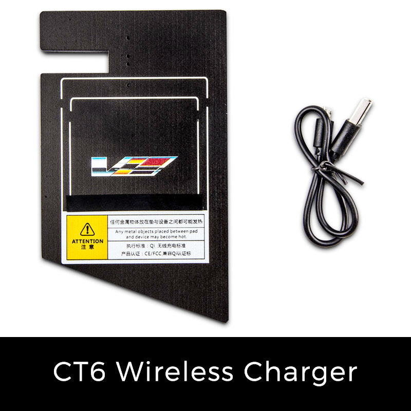 Qi Wireless Charger For Cadillac CT6 2019 2018 2017 2016