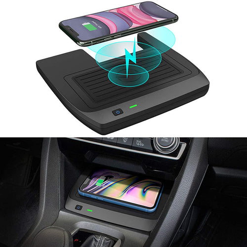 Car Wireless Charger for Honda Civic 2016-2021 for 10th Honda Civic Hatchback Si Coupe Type R