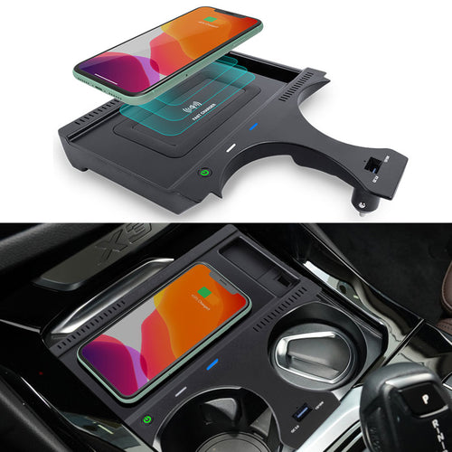 Car Wireless Charger for BMW X3 (G01) X4(G02) 2018 2019 2020