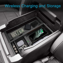 Load image into Gallery viewer, CarQiWireless Ford F150 2017-2021 Wireless Charger & Center Console Organizer