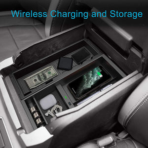 CarQiWireless Ford F150 2017-2021 Wireless Charger & Center Console Organizer