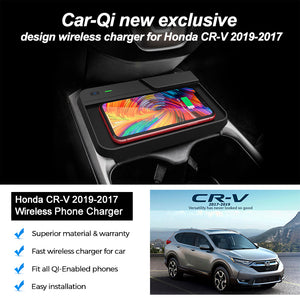 Honda CR-V Wireless Phone Charger for 2017-2019, Install Easy