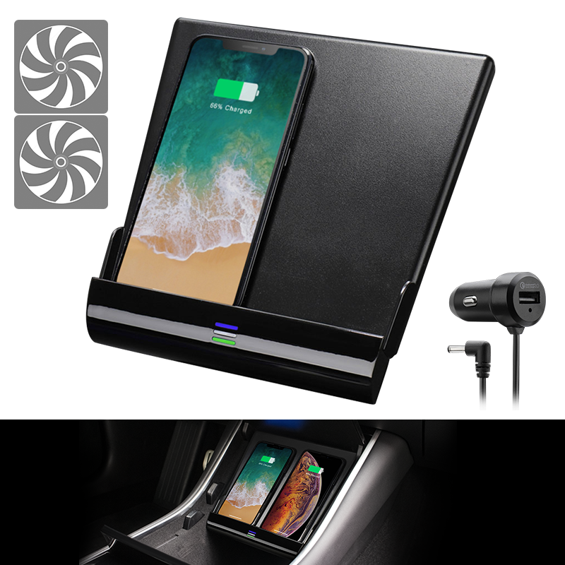 New Air-cooling Wireless Charger for Tesla Model 3, 10W Fast Charging