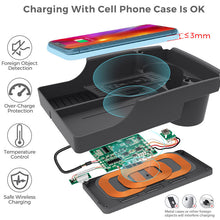 Load image into Gallery viewer, Tesla Model S / X Wireless Charging Tray Storage Box 2016 2017 2018 2019 2020